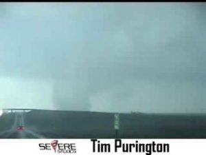 Amazing Elephant Trunk Tornado near Quinter Kansas 5/24/08
