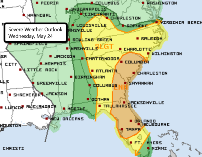 5-24 Severe Weather Outlook