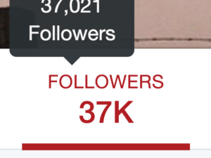 37k twitter followers