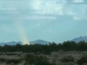 Landspout in Desert Center, CA 9-6-14