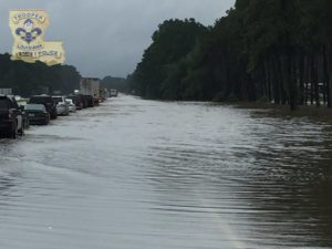 Flooding in Louisiana via LA State Police