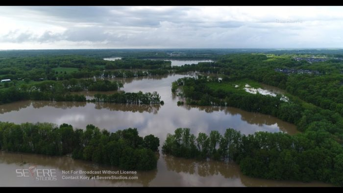 Columbia MO Flooding Aerial 5-2-17