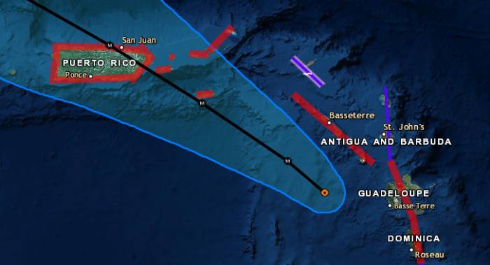 9-19 Maria Close Up Track Forecast