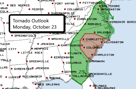 10-23 Tornado Outlook