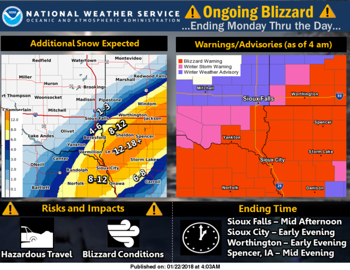1-22 Sioux Falls Winter Storm Graphic